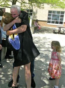 I'm a sucker for candids. My dad and I at my college graduation, May 2012
