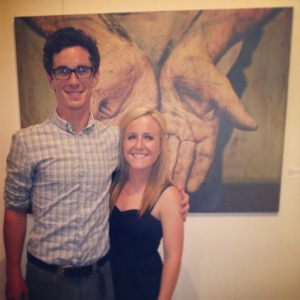 Max and me at the opening reception. August 2nd, 2013.