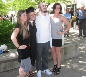 My college graduation, May 2012. The proudest big brother on the planet.